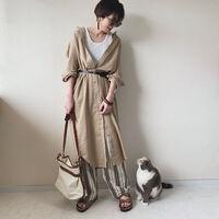 洋服もオトナ色にシフトチェンジ♡ベージュを使ったモテカジュアルコーデ