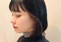 黒髪×インナーカラーで今っぽオシャレなトレンドヘアに♡