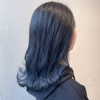 ブルー なし ネイビー ブリーチ 【2020年秋】ブリーチなし ブルーの髪型・ヘアアレンジ|人気順|ホットペッパービューティー