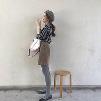 黒タイツはダサい!春服をオシャレ見せするカラータイツコーデ