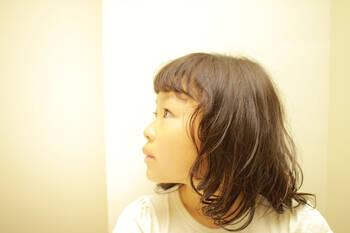 女の子 小学生 くせ毛 髪型