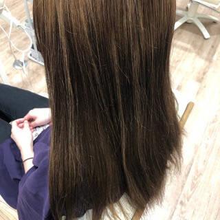 ブルーブラック なんちゃって黒染め 黒染め ナチュラルヘアスタイルや髪型の写真・画像