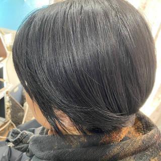 ショート 大人ハイライト コーラルピンク ベリーショートヘアスタイルや髪型の写真・画像