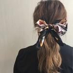 三角クリップ・マジェステ・スカーフ…♡トレンドヘアアクセを使ったアレンジまとめ