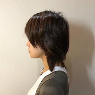 モード ウルフカット ショート オシャレヘアスタイルや髪型の写真・画像