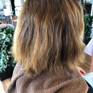 縮毛矯正 ショートボブ ナチュラル ボブヘアスタイルや髪型の写真・画像