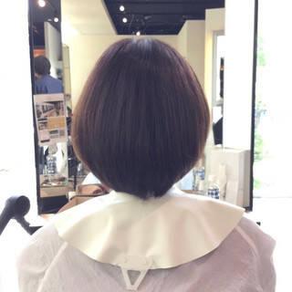 艶髪 お手入れ簡単!! 大人可愛い ボブヘアスタイルや髪型の写真・画像