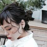 日本人に似合うのはやっぱり黒髪でした。黒髪ショートで憧れヘアに♡