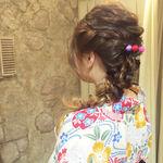 浴衣に合うお団子&編み込みなどのヘアアレンジ15選♪