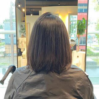 小顔 艶髪 お手入れ簡単!! ナチュラルヘアスタイルや髪型の写真・画像