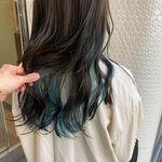 青のインナーカラー特集!ブルー系ヘアカラーは暗髪と相性バツグン♡