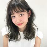 【モテ髪】黒髪風セミロング×パーマのヘアスタイル10選♡