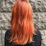 【オレンジカラー】が今キテる!次の髪色はオレンジで決まり♡