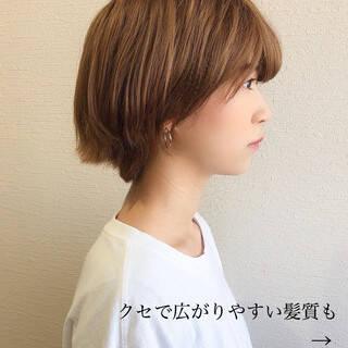 ナチュラル マッシュショート 大人ショート ベリーショートヘアスタイルや髪型の写真・画像