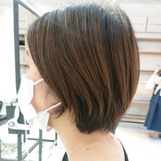 透明感 簡単スタイリング ショートボブ マッシュショートヘアスタイルや髪型の写真・画像