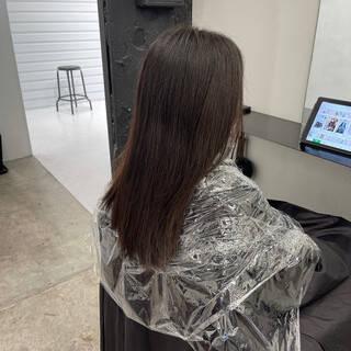 ロング 美髪矯正 縮毛矯正 ナチュラルヘアスタイルや髪型の写真・画像