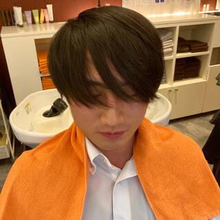 ナチュラル メンズカジュアル メンズカット ショートヘアスタイルや髪型の写真・画像