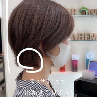 ショートヘア 極細ハイライト ショート ナチュラルヘアスタイルや髪型の写真・画像