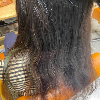 ナチュラル 梅雨 縮毛矯正 ストレートヘアスタイルや髪型の写真・画像