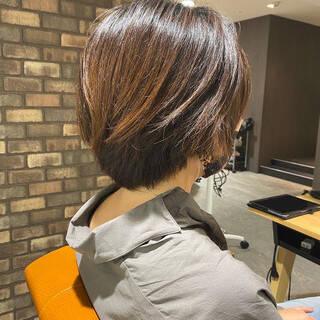 ショートヘア 大人ショート ハンサムショート パーマヘアスタイルや髪型の写真・画像