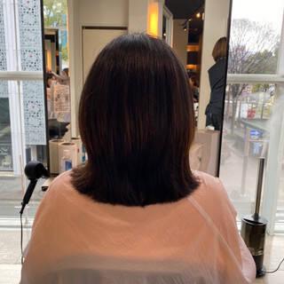 ノースタイリング ナチュラル 艶髪 内巻きヘアスタイルや髪型の写真・画像