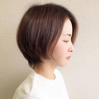 ショート モード ハンサムショート 大人ショートヘアスタイルや髪型の写真・画像
