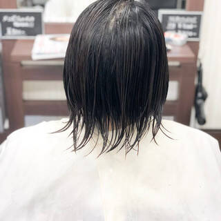 ナチュラル ショート お手入れ簡単!! 小頭ヘアスタイルや髪型の写真・画像