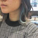 黒髪風ボブには「インナーカラー」で可愛いスパイスを♡真似したくなるヘアカラー