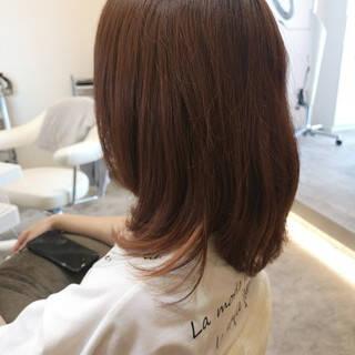 ボブ 大人女子 ラベンダーピンク ガーリーヘアスタイルや髪型の写真・画像