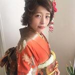 【年代別】短い髪も可愛く♡着物に合わせるショートヘアアレンジ