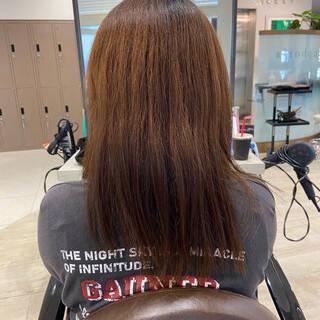 ストレート ミディアム サラサラ 髪質改善ヘアスタイルや髪型の写真・画像