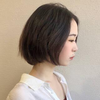 ナチュラル 黒髪ショート ショート ハンサムショートヘアスタイルや髪型の写真・画像