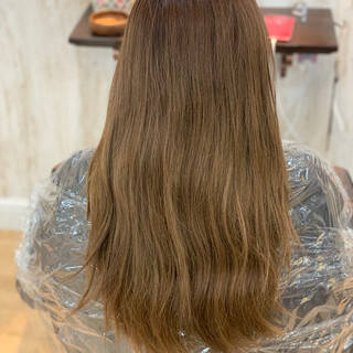 パープル ロング ラズベリーピンク コリアンピンクヘアスタイルや髪型の写真・画像