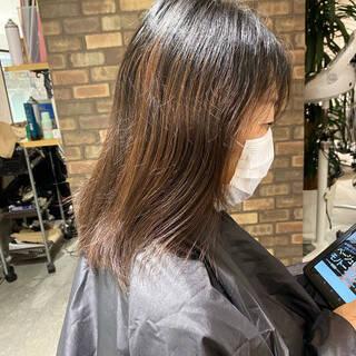 ナチュラル 縮毛矯正 スロウ ショートヘアスタイルや髪型の写真・画像