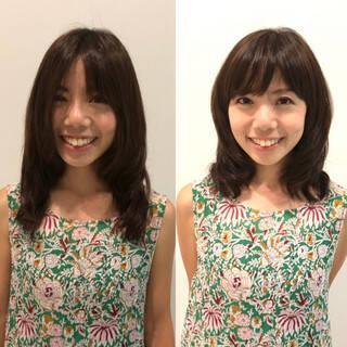 可愛い 大人女子 大人可愛い ミディアムヘアスタイルや髪型の写真・画像