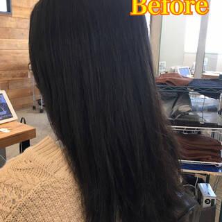 ナチュラル ロング ウェーブ デジタルパーマヘアスタイルや髪型の写真・画像