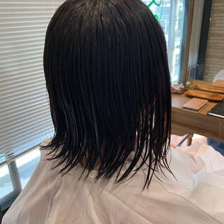 ショートボブ ショートヘア レイヤーカット ナチュラルヘアスタイルや髪型の写真・画像