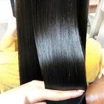 黒に近い髪色アッシュブラックは透明感のあるヘア♡