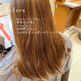 波巻き エレガント ショコラブラウン ブリーチなしヘアスタイルや髪型の写真・画像