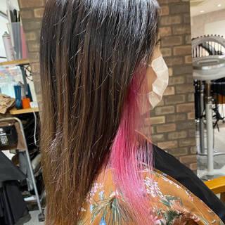 アディクシーカラー 髪質改善 ナチュラル インナーカラーヘアスタイルや髪型の写真・画像