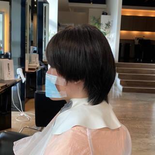 ショート マッシュ メンズパーマ 絶壁カバーヘアスタイルや髪型の写真・画像