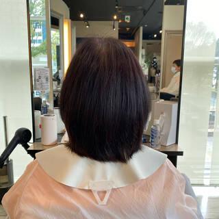 ショート お手入れ簡単!! フェミニン ミニボブヘアスタイルや髪型の写真・画像