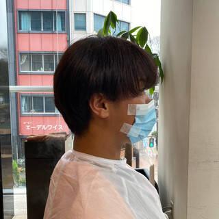 ショート メンズ ツーブロック ノースタイリングヘアスタイルや髪型の写真・画像