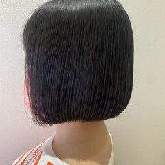 縮毛矯正 ナチュラル ミニボブ ボブ ヘアスタイルや髪型の写真・画像