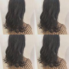 透明感 渋谷系 オルチャン セミロング ヘアスタイルや髪型の写真・画像