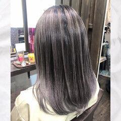 デザインカラー バレイヤージュ ハイトーン ストリート ヘアスタイルや髪型の写真・画像