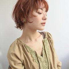 マッシュショート ナチュラル 前髪あり ショート ヘアスタイルや髪型の写真・画像