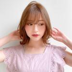 モテ髪 レイヤースタイル ゆるふわパーマ ひし形