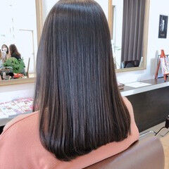 縮毛矯正 セミロング 髪の病院 髪質改善 ヘアスタイルや髪型の写真・画像
