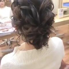 ミディアム 成人式ヘア 結婚式ヘアアレンジ ガーリー ヘアスタイルや髪型の写真・画像